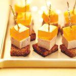 Cubes de foie gras, gelée safranée de Picard