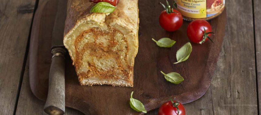 Cake au parmesan et à la Tartinade de Légumes Tomate Cerise Roquette Bonneterre