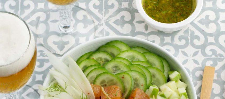 Buddha bowl au saumon et quinoa
