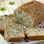 Cake aux fèves et au pesto de basilic