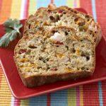 Cake aux poivrons, crevettes et coriandre