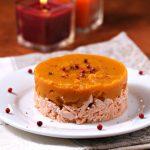 Hachis parmentier au saumon, patate douce et curry