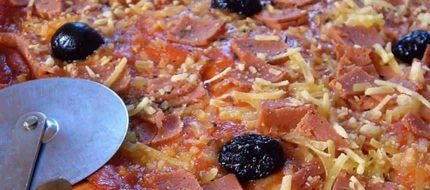 Pizza jambon fromage (Vegan)