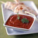 Sauce barbecue, brochettes de poulet