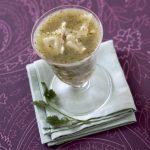 Soupe aux ravioles et coriandre