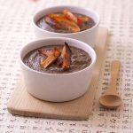 Velouté de lentilles vertes au curry et potimarron grillé