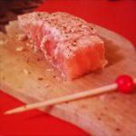 Pavé de saumon mi-cuit citronné
