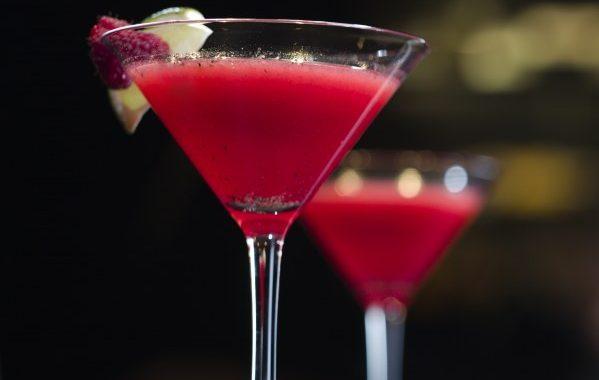 Cocktail aux framboise