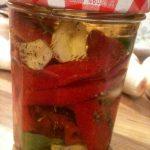 Bocaux de piments à l'huile parfumée