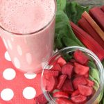 Smoothie fraise rhubarbe