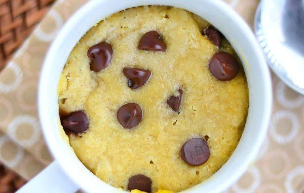 Mug cake cookie moelleux sans oeuf