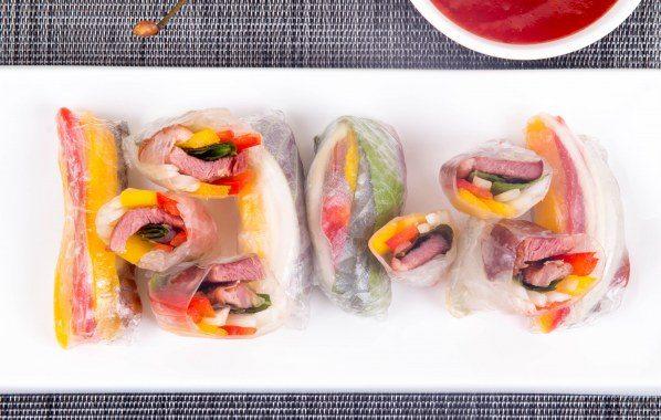 Rouleaux apéro au Magret de Canard et légumes croquants
