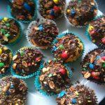 Cupcakes aux bonbons m&m's