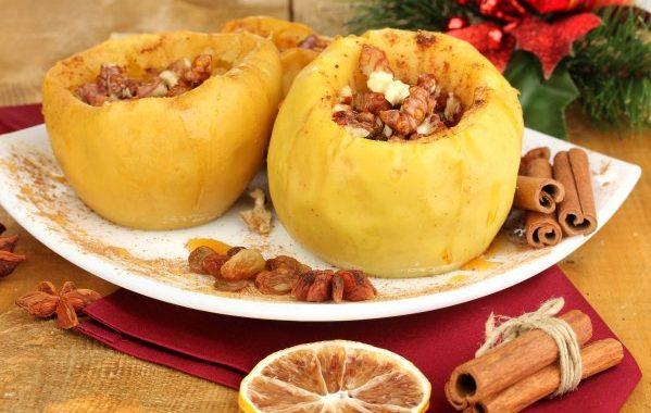 Pommes au four à la confiture de coings aux noix