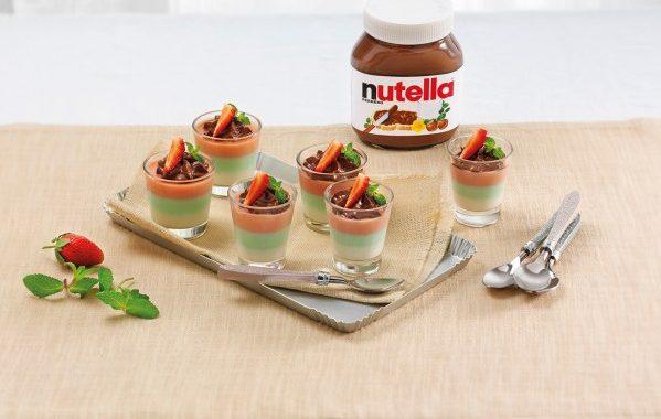 Panna cotta tricolore au Nutella®