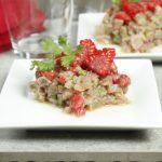 Ceviche de thon aux framboises, coriandre et citron vert