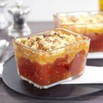 Crumble tomate et lardons rapide