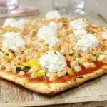 Pizza au saumon et légumes à l'italienne
