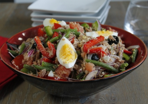 Salade de poivrons à la niçoise