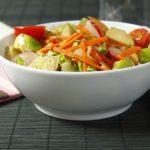 Salade de sucrine, carottes et rattes