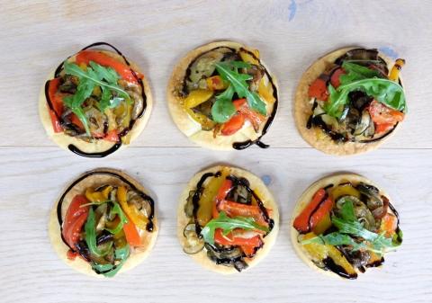 Tartelettes aux légumes du soleil façon antipasti