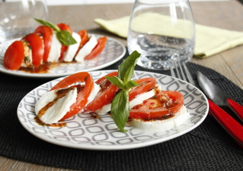 Tomates mozzarella à l'italienne