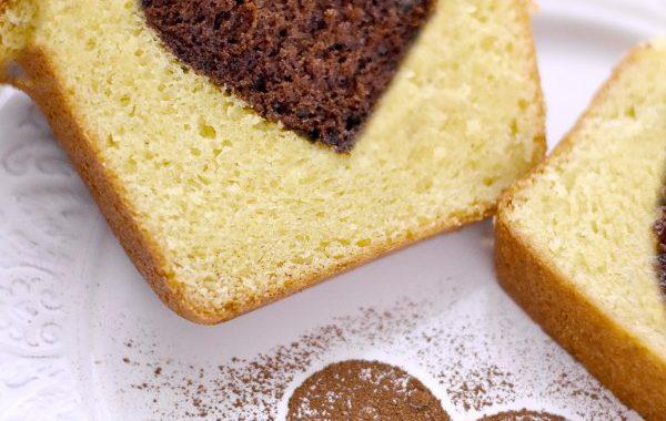 Cake moelleux au mascarpone et coeur au chocolat