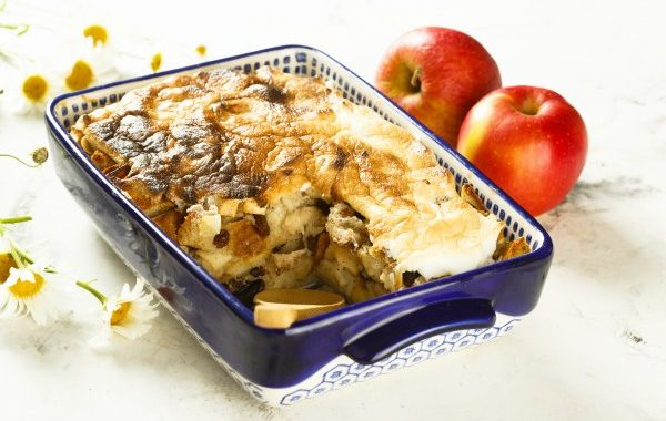 Pudding brioché aux pommes