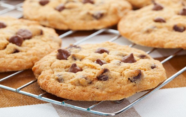 Délicieux cookies américains au beurre salé