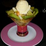 Salade de fruits glace vanille