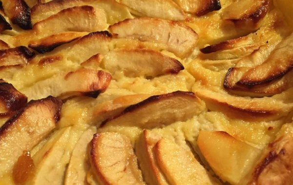 Tarte au flan et aux pommes
