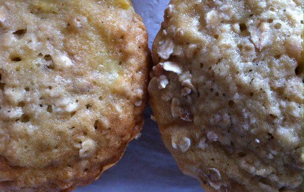Muffins aux pommes et aux flocons d'avoine