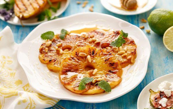Ananas rôtis au miel