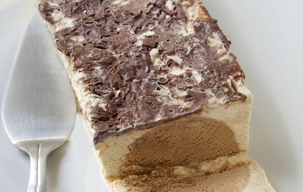 Buche glacée carambar, vanille et nougatine (sans sorbetière)