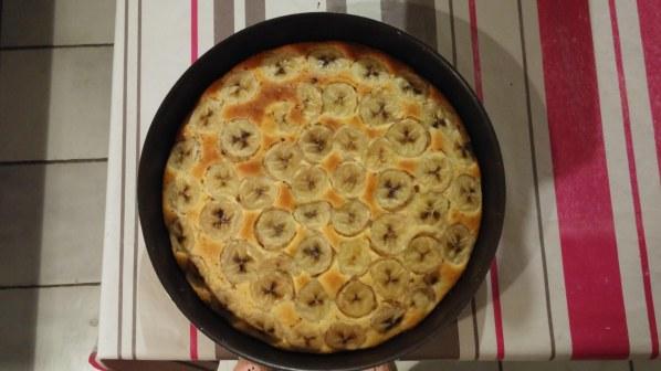 Gâteau dulce de leche banane choco