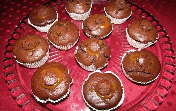 Muffin coeur coulant caramel