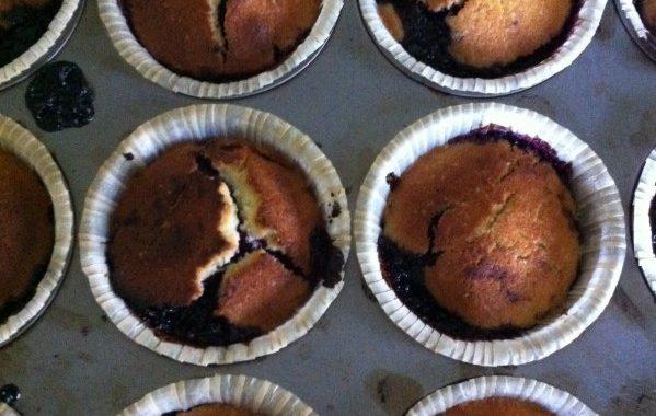 Délicieux muffins au cassis gluten free !