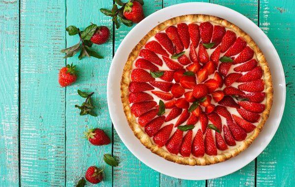 Tarte aux fraises et à la faisselle