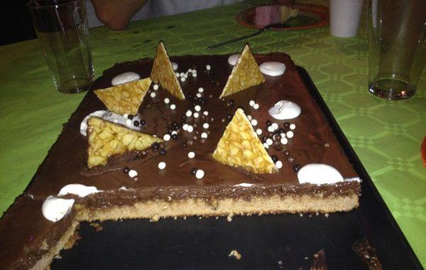 Gâteau chocolat et nougatine