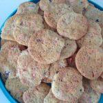 Gros cookies moelleux aux pralines roses