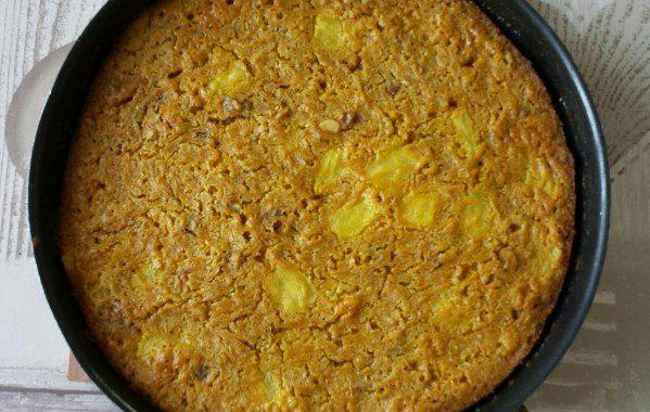 Carrot cake à l'ananas et aux noix