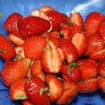 Salade de fraise au vinaigre balsamique