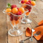 Soupe de melon aux framboises