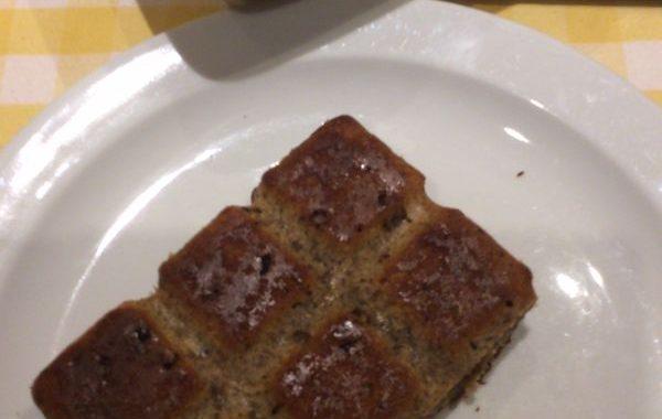 Gâteau de pain aux raisins secs