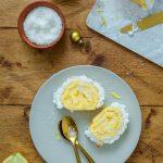 Bûche de Noël au citron coco meringuée
