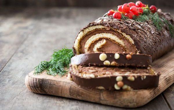 Bûche roulée au chocolat
