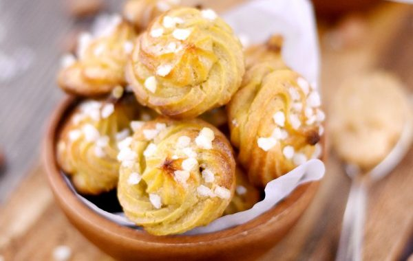 Chouquettes au beurre de cacahuètes