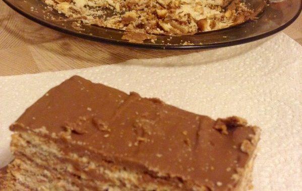 Gâteau Biscuit au Praliné