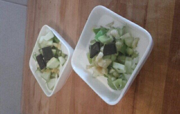 Coupe de yaourt et mascarpone aux fruits