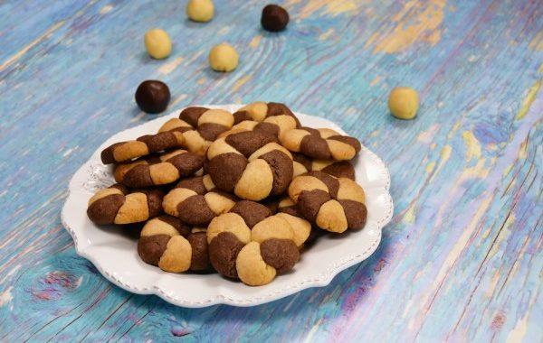 Biscuits tourbillon vanille / chocolat